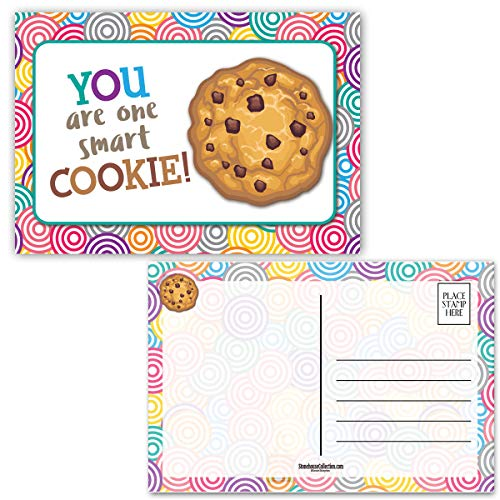 """Teacher Postcards - One Smart Cookie! - 4"""" x 6"""" School Postcards - Made In USA (Cookie)"""
