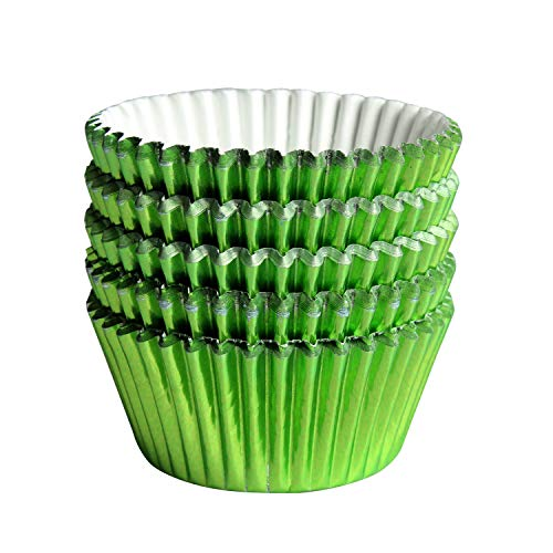 100pcs Cupcake Paper Baking Cups Wrapper Liners Cake, Foil Cupcake Liners for Baking Cupcakes(Green)