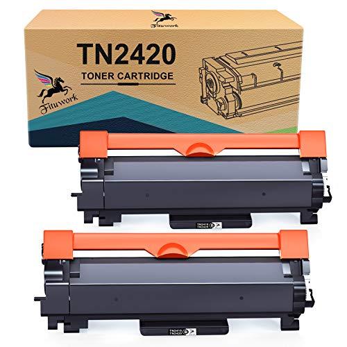 FITU WORK Cartucce Toner Compatibile per Brother TN2420 TN2410 per Brother MFC-L2710DW MFC-L2710DN HL-L2350DW DCP-L2530DW MFC-L2730DW MFC-L2750DW HL-2310D HL-L2370DN HL-L2375DW DCP-L2510D DCP-L2550DN
