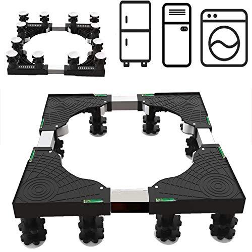 EiDevo Multifunktionale Waschmaschinen-Untergestell Sockel Mit 12 Stabilen Füßen Geeignet für Kühlschrank, Waschmaschine, Trockner