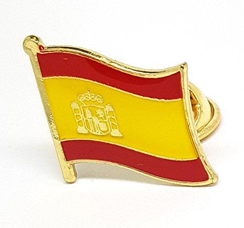 Shopiyal Broche con Insignia de la Bandera Nacional de España, esmaltado, Metal...