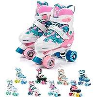 meteor Retro Patines Disco Roler Skate Patines en Paralelo 4 rueadas Quad Skate Patines de Hielo para niños de Adolescentes y Adultos tamaño Ajustable del Zapato (M 35-38, Eden)