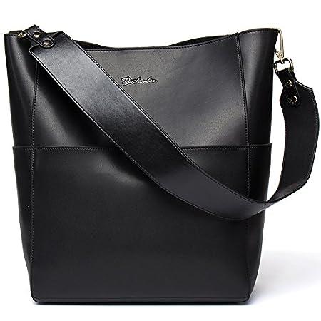 Fashion Shopping BOSTANTEN Women's Leather Designer Handbags Tote Purses