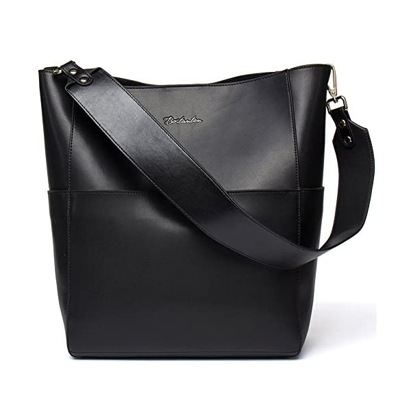 Fashion Shopping BOSTANTEN Women's Leather Designer Handbags Tote Purses Shoulder Bucket Bags