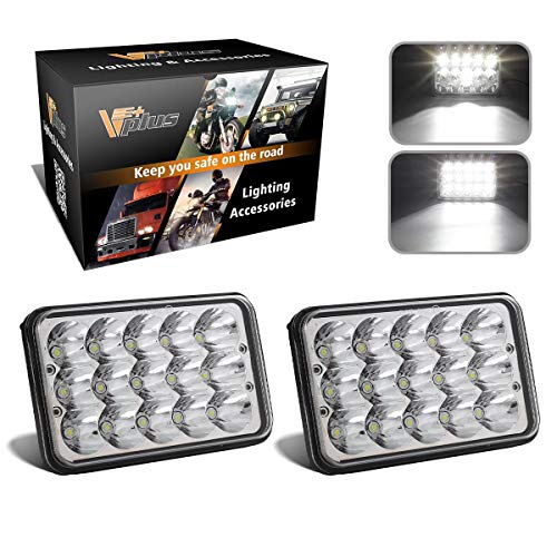 Partsam 4x6 6x4 inch LED Headlights Rectangular Sealed Beam Headlamp H4651 H4652...