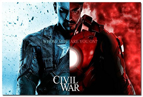 Daaint baby Captain America 3 - Civil War Movie Art Canvas Poster Es Iron Man Spider Man Black Widow Hulk 39