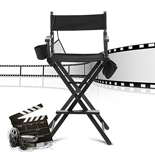GOTOTOP Profesional Silla Plegable de Esteticista, Maquilladores de Belleza y Directores de Cine, Actores o Personal de Madera