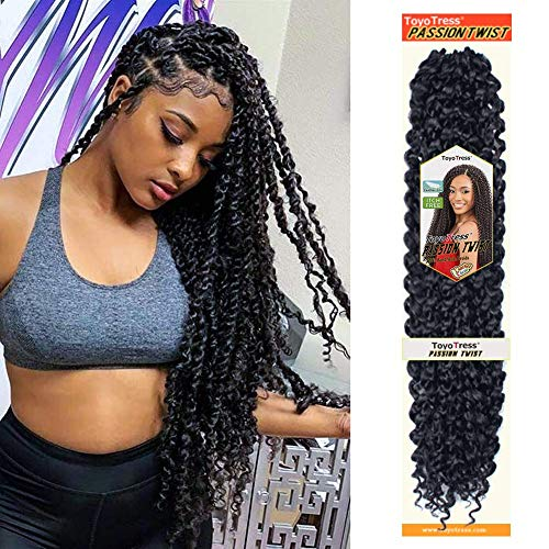 Toyotress Passion Twist Hair Water Wave Crochet Braids for Passion...