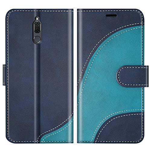 BoxTii Cover per Huawei Mate 10 Lite/Nova 2I, Custodia in PU Pelle Portafoglio per Huawei Mate 10 Lite/Nova 2I, Magnetica Cover a Libro con Slot per Schede, Blu