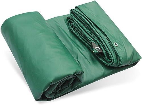 Baches Bache résistante avec la couverture de feuille de terre de toile de tente de tente de store en plastique imperméable d'ombre de bache de PVC d'oeillets, 500gramm   carré, vert ( Taille   4mx5m )