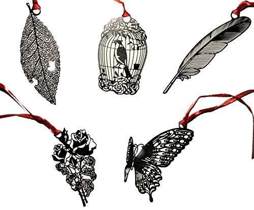 Segnalibro in metallo, 5 pezzi per set, Tema Foresta