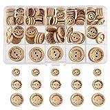 FEPITO hecho a mano con botón de madera de amor 15 mm 20 mm 25 mm forma redonda botones...