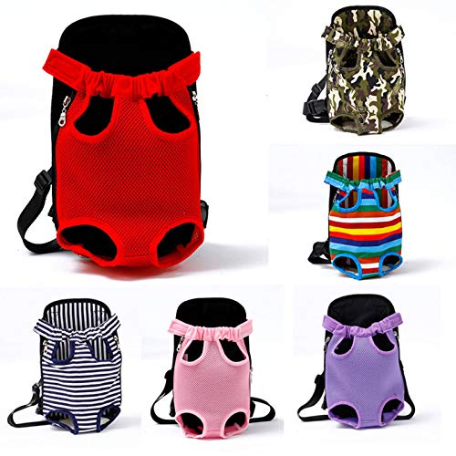 N\C Portátil viaje mascota pecho bolsa transpirable suave correa de cuatro patas bolsa suministros para mascotas pequeña y mediana bolsa para mascotas