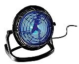 Beco - Ventilatore da Tavolo USB, in plastica, a LED, Colore: Nero