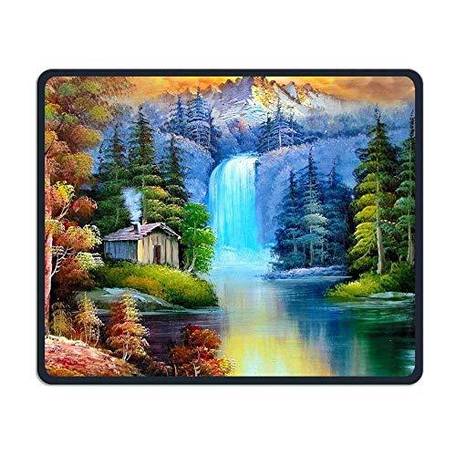 Kleurrijke natuur Schilderij Boom Comfortabele Rechthoek Rubber Base Mousepad Gaming Mouse Pad