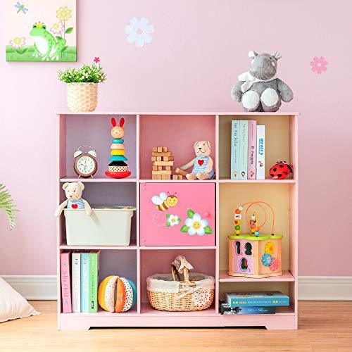 Fantasy Fields - Magic Garden Adjustable Cube Bookshelf, 9 Cube Storage Bookshelf