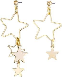 BEAUTYCHOU Pendientes/Estrellas Pendientes/tamaño asimetría/Estrella de Cinco Puntas Hueca/Pendientes Mujer/joyería al por Mayor / 4.6 * 3.4cm