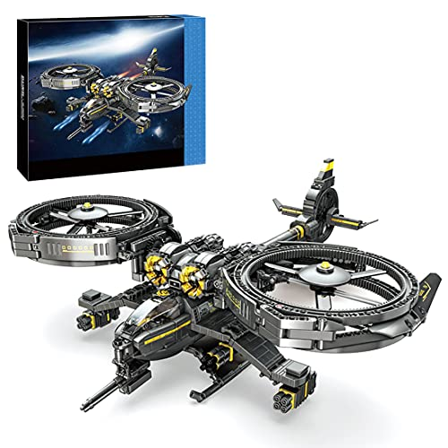 Lommer Technik Hubschrauber Bausteine Spielzeug, 1093Pcs Flugzeug Kampfflugzeuge Militär Helikopter Modell Kits, Konstruktionsspielzeug Kompatibel mit Lego