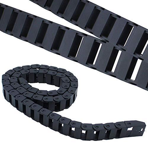 Catena Portacavi in Nylon Nero 1m Porta Cavi in Plastica Semi Chiusa Utilizzato per Stampante 3D Macchine Utensili CNC - Diametro Interno 10 x 20mm