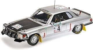 Minichamps 107793204–Mercedes–Benz 450SLC AMG–Rally Bandama 1979–Escala 1/18–Plata/Negro