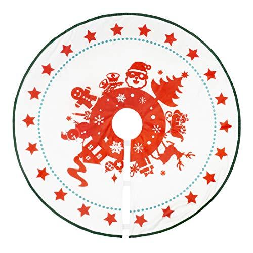 CoolChange Weihnachtsbaumdecke | Christbaumteppich | Tannenbaumständer Abdeckung | 100cm