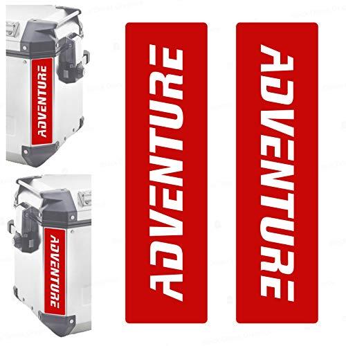 2 adhesivos reflectantes compatibles con maletas laterales Givi Trekker Outback 37L 48L (rojo)