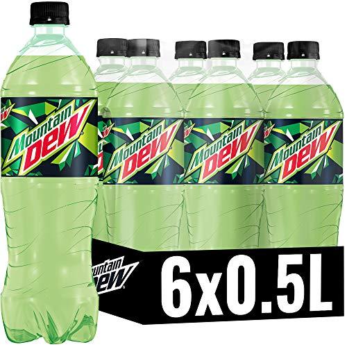 Mountain Dew Regular, Koffeinhaltige Limonade mit Lemon-Lime-Geschmack, das Kultgetränk aus den USA (6 x 0.5 l)