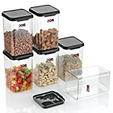 Made of BPA-free Certified Food Grade Material. 100% quality guaranteed. Stackable, Space Saving Containers. EASY TO USE - The sleek transparent bottle body and wide mouth design make these gallon jars look more beautiful and practical, and you can e...