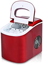 12kgs/24H Portable Automatic ice Maker, Household bullet round ice make machine for family, bar,coffee shop EU/US/UK plug,Red