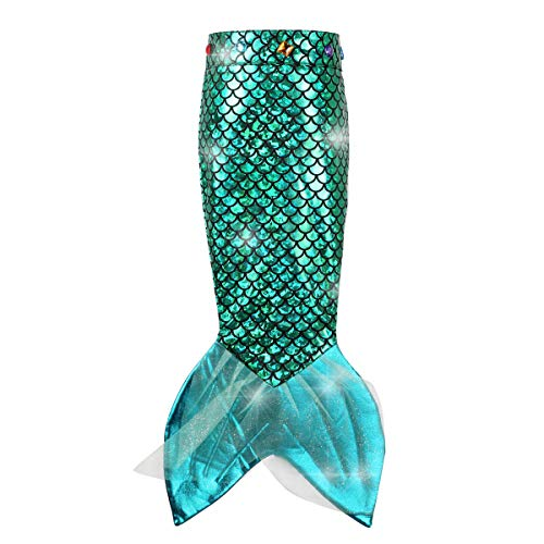 Girls Mermaid Tail Spakle Costume for Kids   Little Mermaid Tail for Birthday Party Supplies Under The Sea Party Decortion Green
