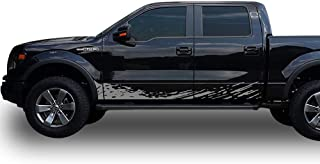 Bubbles Designs Set of Side Mud Splash Decal Sticker Graphic Compatible with Ford F150 Series 2009-2017 (Gray)
