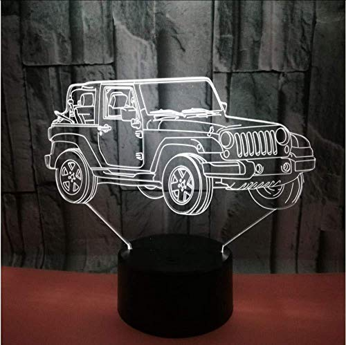 Nouveau véhicule tout-terrain 3D Night Light USB Power Color Touch Touch Led Visual Lamp Gift Decoration Small Table 3D Lamp (ZYJHD)