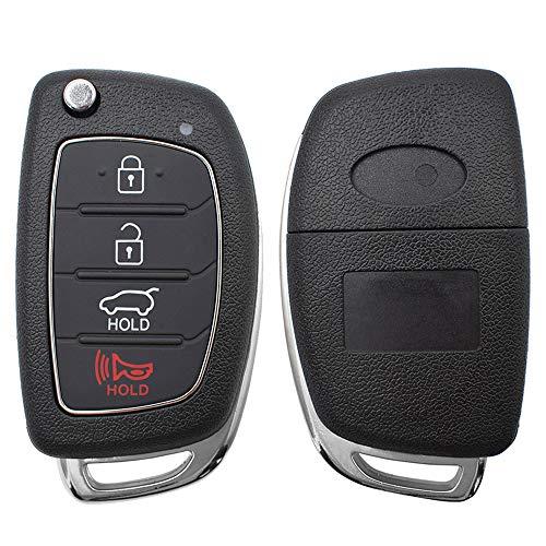 XUKEY Auto-Fernbedienungsgehäuse für Santa fe i40 ix45 Sonata Tucson Schlüssel Ersatz Reparatur Kit 4 Tasten...