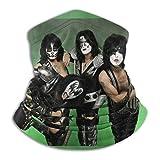 Kiss Heavy Metal Rock bandas unisex bufandas cálidas pañuelos multifuncionales para la cabeza para toallas faciales elásticas lavables