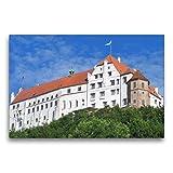 Premium Textil-Leinwand 75 x 50 cm Quer-Format Landshut -