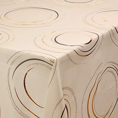 Calitex tafelkleed Fusan, 140 x 300 cm, ivoorkleurig