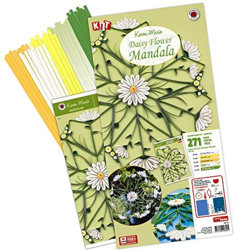 Karen Marie Klip: Daisy Flower Mandala, Quilling Kit