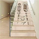 Calcomanía para escaleras, diseño geométrico de espiga en zigzags apilados de cubos grises, para decoración de escaleras o del hogar, Color09, 7.08' x 39.3'