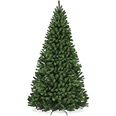 CLASSIC SPRUCE TREE: Inspire holiday cheer this season with a customer favorite that helps make the season feel complete; equipped with sturdy branches, strong enough to hold garland and all your favorite ornaments for a customized look QUALITY DESIG...