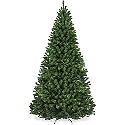 Best Choice Products 7.5ft Premium Spruce Hinged Artificial Christmas Tree w/Easy Assembly, Foldable Stand, modern farmhouse Christmas tree, holiday style Christmas tree
