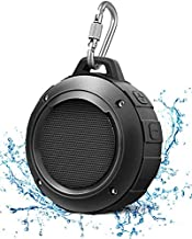 Outdoor Waterproof Bluetooth Speaker,Kunodi Wireless Portable Mini Shower Travel Speaker with Subwoofer, Enhanced Bass, Built in Mic for Sports, Pool, Beach, Hiking, Camping (Black)