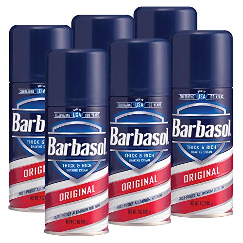 Barbasol Original Thick and Rich Shaving Cream, 7 Ounce, Pack of 6