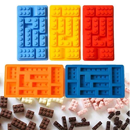 PENG Lego Rectangular Lego Molde Cubitos Hielo Molde