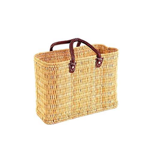 Simandra Seegras Tasche Korb Einkaufstasche Einkaufskorb Flechtkorb Korbtasche Palmgras kurzer Griff mittel Color Natur