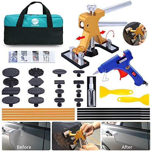 YOOHE Dent Puller Kit - Paintless Dent Puller, Adjustable Golden Car Dent Puller, Car Dent Repair Kit for Auto Body Dent Repair and Hail Damage