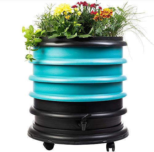 Buy Discount WormBox WB31TU Wormery Composter 3 Turquoise Plus Planter-56 litres, 3 Trays + Planter