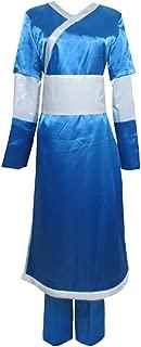 Anime The Last Airbender Katara Uniform Cosplay Avatar Costume