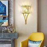 L谩mpara de pared Golden NordicCrystalBedside L谩mpara Pasillo Hall20CM * 43CM