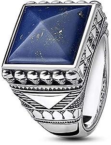 THOMAS SABO Herren-Ringe 925 Sterlingsilber mit - Ringgröße 60 TR2206-531-1-60
