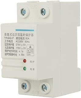 Relé de protección de voltaje, 2P 50A YXGQ-F Recuperación automática Sobrevoltaje Bajo voltaje Protector de corriente Equipo eléctrico de protección para el hogar
